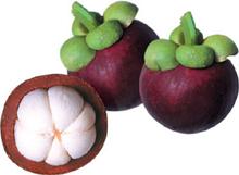 Фрукт мангостин- тропических фрукт из Юго-Восточной Азии