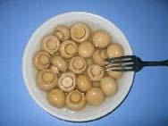 Для производства консервов  грибов, используют молодые плотные грибы