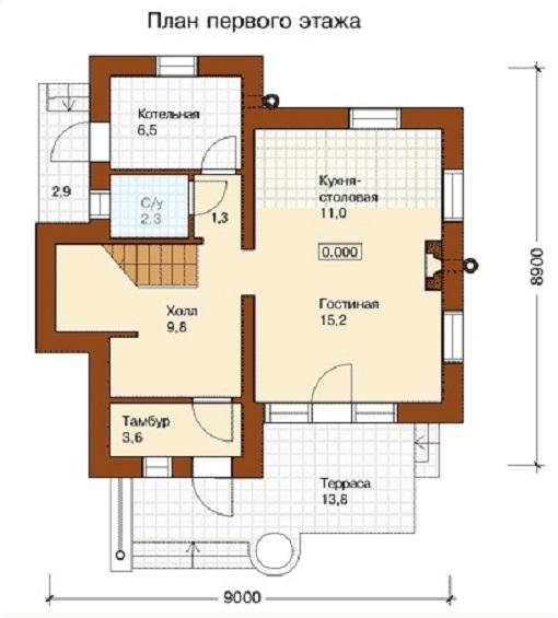 Дом своими руками из пеноблоков план 71