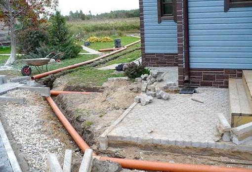 Монтаж наружной системы канализации