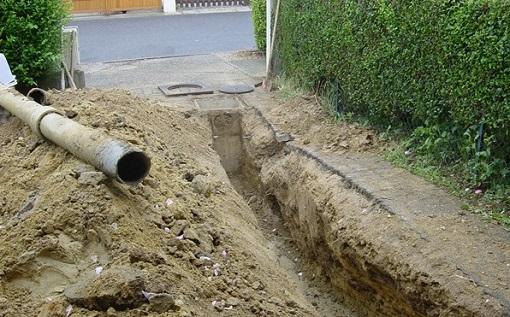 Прокладка напорной канализации