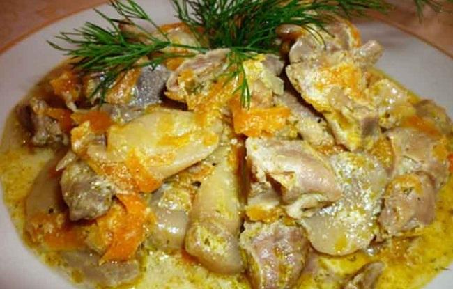 Как приготовить желудки куриные вкусно пошаговый рецепт