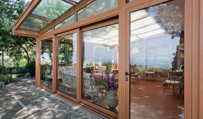 Летние кухни деревянные окна Завод РЕТА