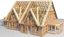 Особенностью каркасного дома является - лёгкость деревянного каркаса
