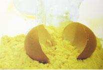Яичный порошок должен иметь порошкообразную структуру