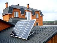 Отопление загородного дома солнечными батареями