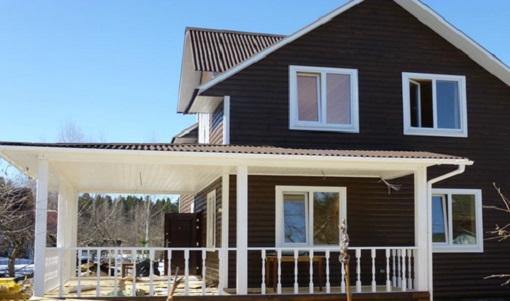Для каркасного дома рекомендуется использовать облегченный фундамент, а в качестве опор – асбоцементные трубы