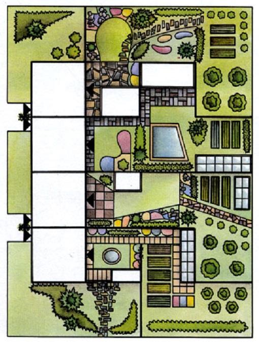 Фото – план участка на две семьи
