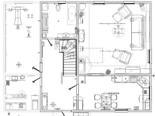 Подробный план первого этажа
