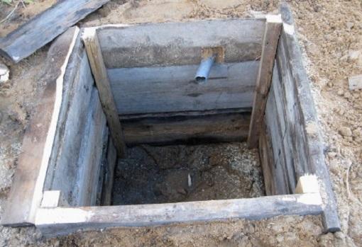 Пример сливной ямы для частного дома