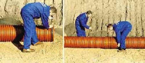 Определение уровня наклона труб наружной канализационной системы