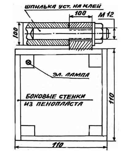 Балконный шкаф, снабженный подогревателем