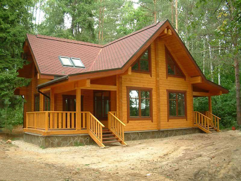 Дом из кленового бруса