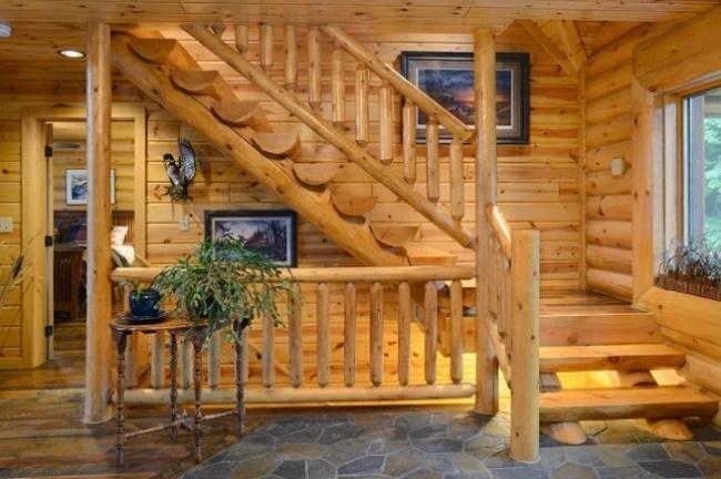 Дизайн интерьера в частном деревянном доме