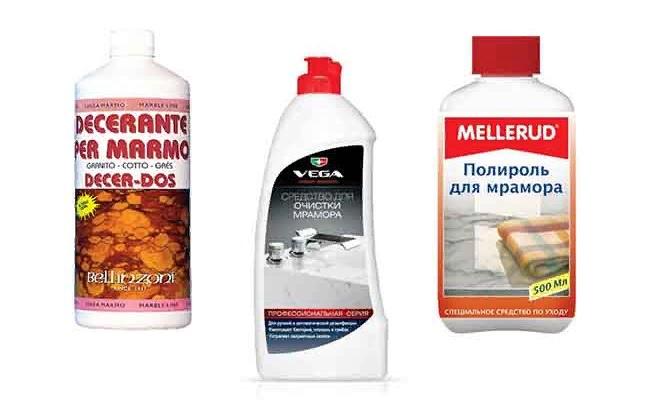 Чем чистить литьевой мрамор?