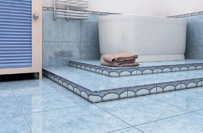 Выбор плитки для облицовки пола в ванной комнате