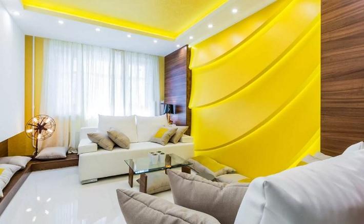 Желтый цвет в дизайне