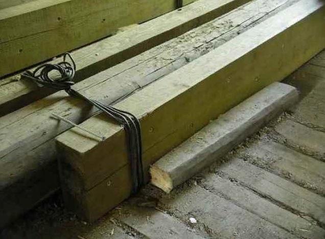 Как усилить деревянные лаги