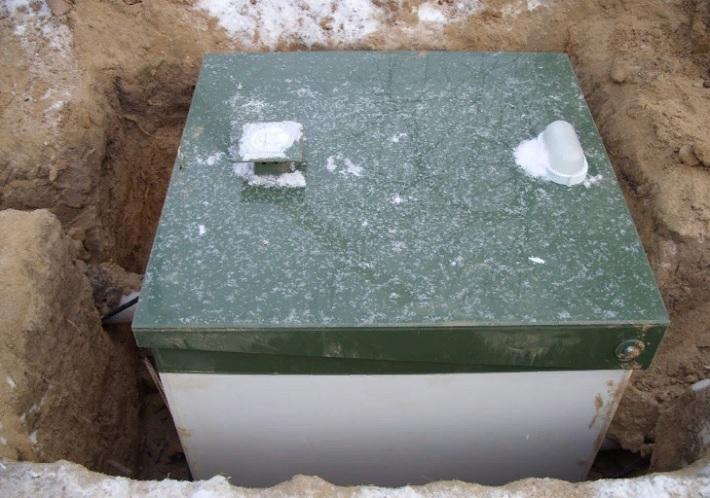 Как работает септик Топаз зимой?