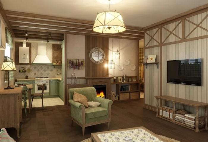 Как создать стиль кантри в городской квартире?
