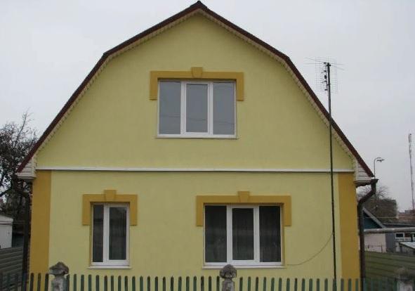 В какой цвет покрасить фронтон дома?