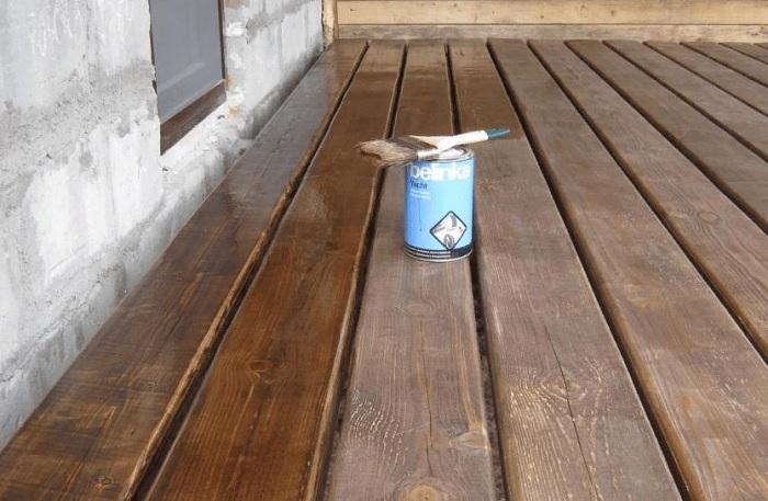 Чем покрасить пол на открытой террасе (веранде)?