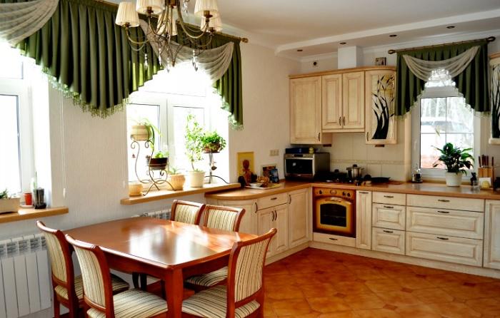 Дизайн штор для кухни: подбираем свой вариант